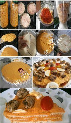 No soy un blog de cocina: PASTEL FRÍO DE GARBANZOS RELLENO DE ATÚN