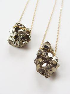 Pyrite Necklaces by Friedasophie - www.friedasophie.etsy.com