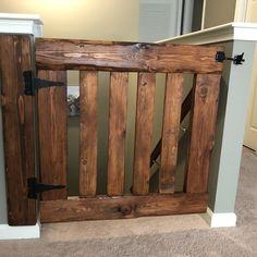 Rustic Half Door Baby / Dog Gate Gate - Decoration For Home Barn Door Baby Gate, Diy Baby Gate, Baby Gates, Pet Gate, Diy Dog Gate, Wood Baby Gate, Baby Door, Pet Door, Rustic Furniture