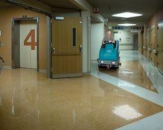 Fregadora Tennant T15 en Hospital de EEUU