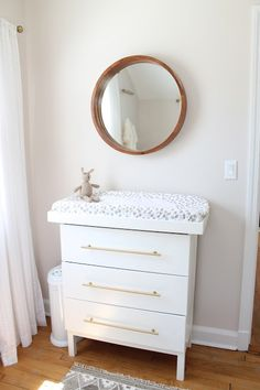 ikea tarva dresser hack into changing table More
