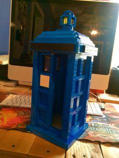 Lego TARDIS Lego Tardis, Jukebox, Fire, Projects, Design, Design Comics, Tile Projects