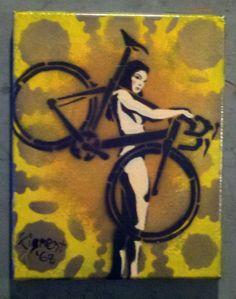 Girl Carrying Bike 002 by WingnutBikeWorx on Etsy