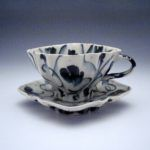 Cup & Saucer made by ceramic artist Andrew Martin.