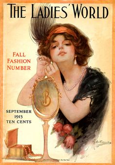 Fall fashion on the cover of 'The Ladies' World' magazine, September 1913.