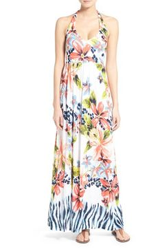Tommy Bahama 'Bungaroo Blooms' Print Jersey Halter Maxi Dress available at #Nordstrom