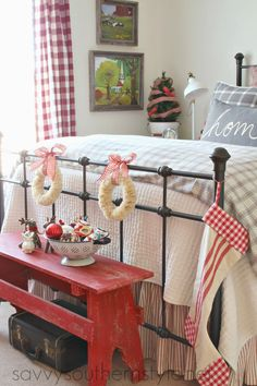 Farmhouse Guest Room Christmas - Savvy Southern Style