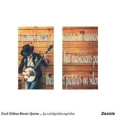 Shop Cool Oldies Music Quote Banjo Player Canvas Print created by solidgoldsongtitles. Wall Art Sets, Banjo, Retro Design, Music Quotes, Cool Cats, Canvas Prints, Cool Stuff, Pictures, Painting