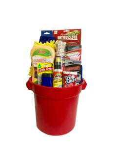 The Car Wash Gift Basket is available for same-day delivery in Las Vegas, NV. The perfect gift for a new car owner! Includes wash bucket, drying cloth, tire shine, air fresheners, sponges, disinfectant wipes and more! For custom Car Gift Baskets please call 702-214-1221. Homemade Fathers Day Gifts, Homemade Gifts, Diy Valentine's For Friends, Valentines Day Baskets, Silent Auction Baskets, Sweet 16 Gifts, Gift Baskets For Men, Raffle Baskets, Car Wash
