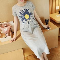 52e669bc1 Short Sleeve 100 Cotton Maternity Dress Floral Patterns Pregnant Women Long  Dress For Pregnancy Summer Long