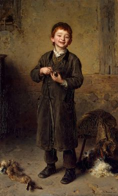First Earnings by Ludwig Knaus (German, 1829-1910)