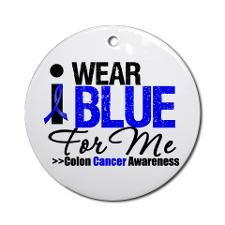 Colon cancer ribbon png  | Colon Cancer Awareness Blue Ribbon Ornaments | Support Colon Cancer ...
