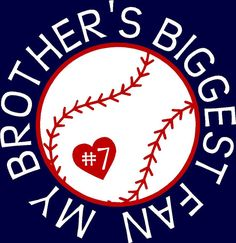 Baseball Brother Baseball Sister My by WalnutStreetHouse2 on Etsy, $15.00