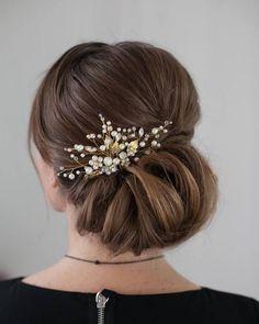 Low Elegant Wedding Bridal Updo Inspiration