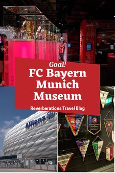 FC Bayern Erlebniswelt is an FC Bayern museum inside Munich's Allianz Arena that will thrill fans both serious and casual with the team's trophies and history. #munich #bavaria #germany #museum #fcbayern Europe Destinations, Amazing Destinations, European Travel Tips, European Vacation, Cool Places To Visit, Places To Travel, Berlin, Travel Flights, Budget