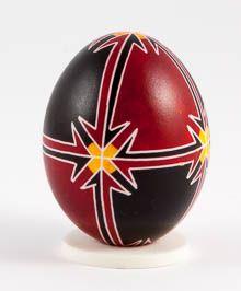 Easter egg in batik technique pale
