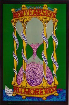 Vanilla Fudge Postcard Fillmore West (San Francisco, CA) Dec 31, 1968