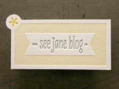 See Jane Blog - die-cut business cards