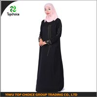 Region jilbab ethnic women abaya stone design black muslim dress