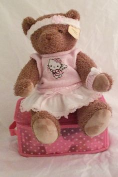 "Dressed bear hello kitty skirt 16"" by AnneMargaretdesigns on Etsy"