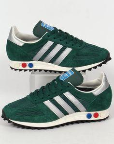 Adidas LA Trainer OG Trainers Green/Silver,shoes,original,runner,mens