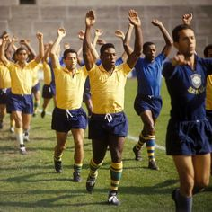 Pelé and Brazil training for the 1966 World Cup. Photo: Interleaning/Offside