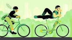 relaxing green bikes