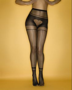 """Erica M """"IHeartU"""" tights, $42, available at EricaM.com."""
