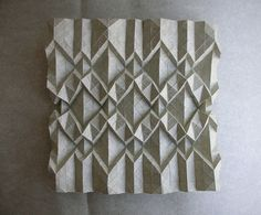 Corrugation XII ( reverse ) by AndreaRusso, via Flickr Paper Folding Designs, Origami Paper Folding, Geometric Designs, Geometric Shapes, Paper Structure, Origami Patterns, Geometric Drawing, Paper Engineering, Fabric Manipulation