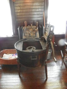 A Victorian washing machine. Doesn't look like laundry day would be much fun. www.capemaymac.org