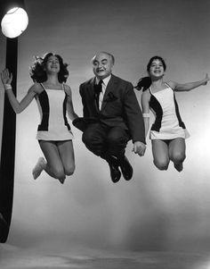 David Seymour Chim with Jane and Irene Halsman