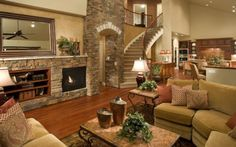 Advance Living Room Design with Brown Color Decoration