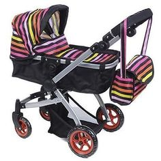 Like #bugaboo doll bassinet stroller with #diaper bag and #swivel wheels new Vi