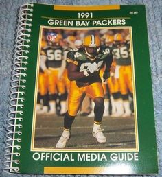 NFL GREEN BAY PACKERS 1991 Media Guide, Illustrated, Fast Shipping Included NICE