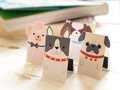 マグネットブックマーカー「しおり犬」を作り方に続いて、切り取って作れるブックマーカーのテンプレートに、あたらな犬種を加えてみました。新しい仲間はシーズー、プードル、パグ、ボストンテリアの4種類です。ポストイットのようにしおり犬を沢山使えば、