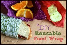 Eliminate plastic wrap or waxed paper from your arsenal of wasteful kitchen products with  reusable food wraps! It's easy and frugal!