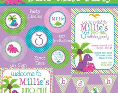 Dino-Mite Dinosaur Mini Birthday Party Package by PartySoPerfect