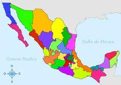 Mapa De La Republica Mexicana Con Nombres Y División Política Good