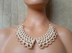 Large Pearl Necklace Pearl Statement by UrbanCoutureJewelry