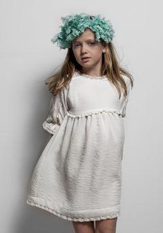 Vestido Puntillas Crep Blanco