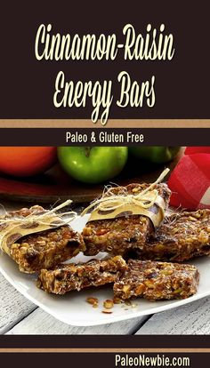 Easy recipe for grab-n-go paleo and gluten-free energy bars packed with healthy nuts and seeds. Grab this yummy recipe!
