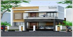 Independent house elevation designs in india