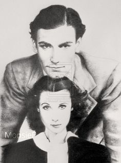 """The actress Vivien Leigh, the Scarlett O'Hara of """"Gone with the wind"""". Description from deviantart.com. I searched for this on bing.com/images"""