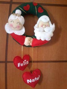 Guirlanda Papai e mamãe Noel | Ateliê Feltro Encantado | Elo7
