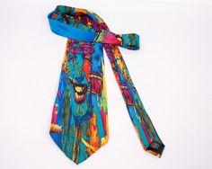 Vintage Silk Tie Anthony Whelihan Multi Color by LeVintageGalleria
