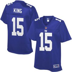 01804f880 Tavarres King New York Giants NFL Pro Line Women s Player Jersey - Royal