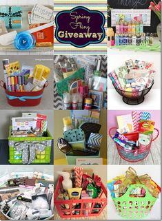 """gift basket ideas. This pin also includes how to make a unique """"Happy Birthday"""" sign"""