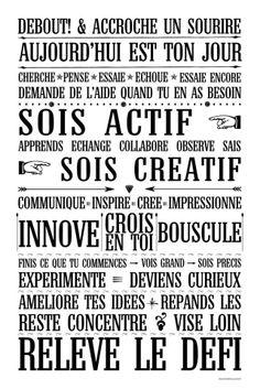 des mots déco #powerpatate #optimisme #créativité