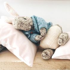 A knitting PATTERN to make this special little knitted Peter Rabbit ◊ The . Ravelry: Boy bunny with a piebald patch pattern by Julie Williams KNITTING PATTERN Peter Rabbit Knitting Kits, Free Knitting, Knitting Projects, Baby Knitting, Knitting Patterns, Sewing Projects, Crochet Patterns, Sewing Tips, Knitting Ideas