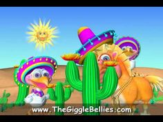 Happy Cinco De Mayo from the GiggleBellies! - silly chicken dance animation video for kids